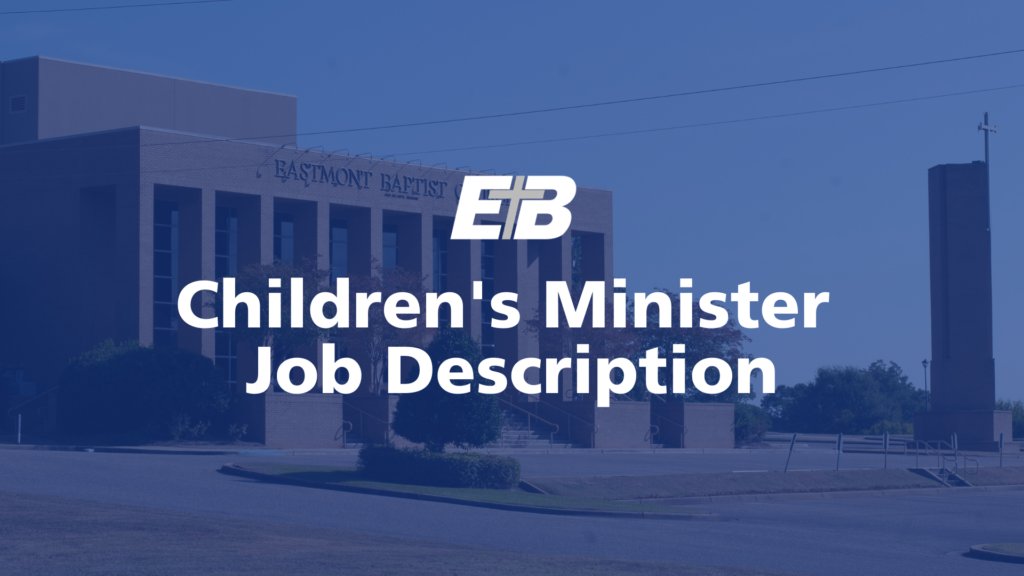 Preschool/Children's Minister Job Description 2